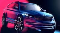 Kodiaq RS poprvé v celé kráse, kromě skic zveřejnila Škoda i nové detaily - anotační obrázek