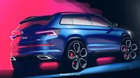 Škoda Kodiaq RS se na zveřejněných skicách poprvé ukazuje v plné kráse