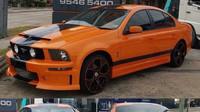 Neznámý australský úpravce se pokusil přestavět Ford Falcon na čtyřdveřový Ford Mustang