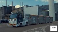 Skupina PSA a společnost EasyMile testují v Sochaux tahač se samočinným řízením TractEasy