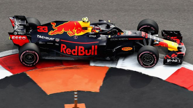 Max Verstappen s Red Bullem RB14