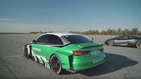 Upravená Audi RS3 s elektrickým pohonem vyzvala na souboj moderní supersporty