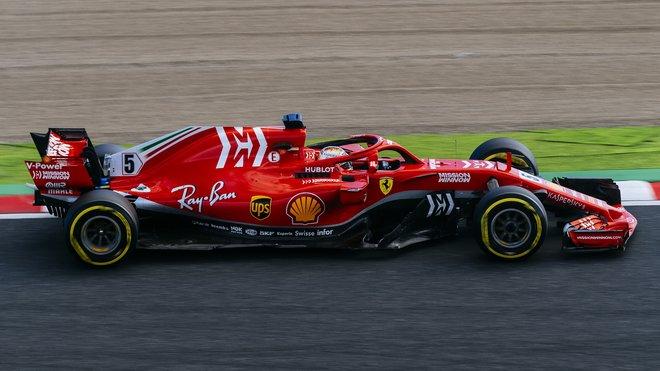 Sebastian Vettel v GP Japonska