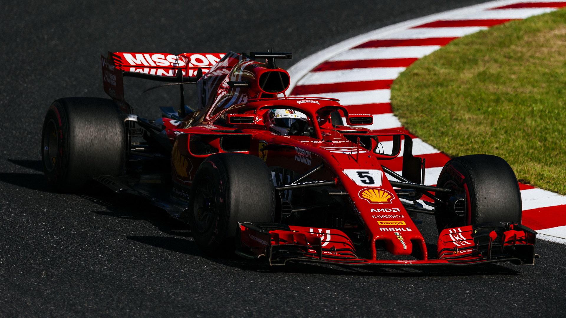 Sebastian Vettel ve Velké ceně Japonska 2018