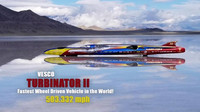 Nejrychlejší automobil světa? Podívejte se, jak Turbinator II překonal rychlost 810 km/h - anotační foto