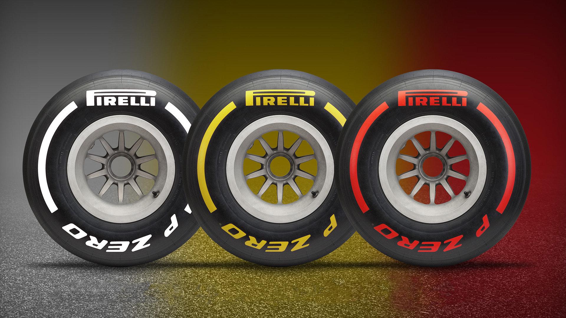 Pirelli připravilo pět stupňů tvrdosti, v rámci zjednodušení se během závodů ale budeme setkávat pouze se třemi barvami