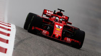 Sebastian Vettel v tréninku v Austinu