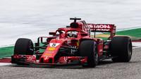 Sebastian Vettel během kvalifikace v Austinu