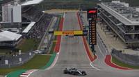 Valtteri Bottas v kvalifikaci v Austinu