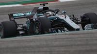 Lewis Hamilton v kvalifikaci v Austinu