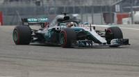 Lewis Hamilton s Mercedesem v Austinu