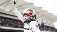 Lewis Hamilton po vítezné kvalififikaci v Austinu