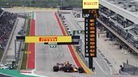 Daniel Ricciardo v kvalififikaci v Austinu