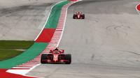 Kimi Räikkönen v kvalififikaci v Austinu