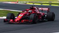 Sebastian Vettel v tréninku v Mexiku