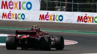 Kimi Räikkönen v tréninku v Mexiku