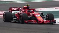 Kimi Räikkönen v kvalifikaci v Mexiku