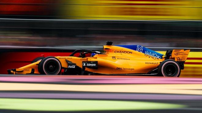Fernando Alonso v kvalifikaci na loňskou GP Mexika s McLarenem MCL33