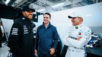 Lewis Hamilton a Valtteri Bottas v kvalifikaci v Mexiku