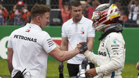 Lewis Hamilton po kvalifikaci v Mexiku