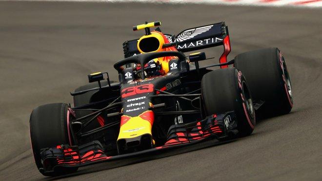 Max Verstappen v kvalifikaci v Mexiku