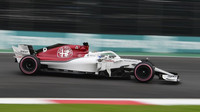 Marcus Ericsson v kvalifikaci v Mexiku