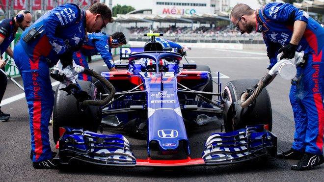 Toro Rosso Pierra Gaslyho před Velkou cenou Mexika