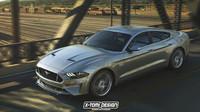 Ford Mustang jako čtyřdveřové kupé v podíní X-Tomi Design