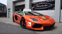 Lamborghini Aventador, které dříve vlastnil YouTuber KSI, nyní slouží jako vůz autoškoly (YouTube/Get Licensed)