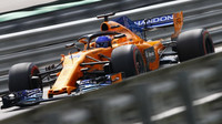 Fernando Alonso v kvalifikaci v Brazílii