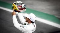 Lewis Hamilton po kvalifikaci v Brazílii