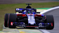 Brendon Hartley v kvalifikaci v Brazílii