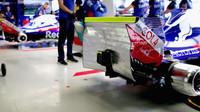 Zadní část vozu Toro Rosso v kvalifikaci v Brazílii