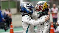 Valtteri Bottas a Lewis Hamilton ovládli kvalifikaci v Abú Zabí (ilustrační foto)