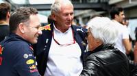 Christian Horner, Bernie Ecclestone a Helmut Marko v Brazílii
