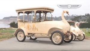 """Automobil inspirovaný labutí? Byl tak reálný, že uměl i plivat nebo """"vykonávat potřebu"""" - anotační obrázek"""