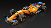 Barevné zbarvení McLarenu MCL33 Fernanda Alonsa pro jeho poslední závod v F1 - Velkou cenu Abú Zabí 2018
