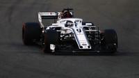 Marcus Ericsson v závodě v Abú Zabí