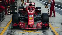Charles Leclerc při testech s Ferrari
