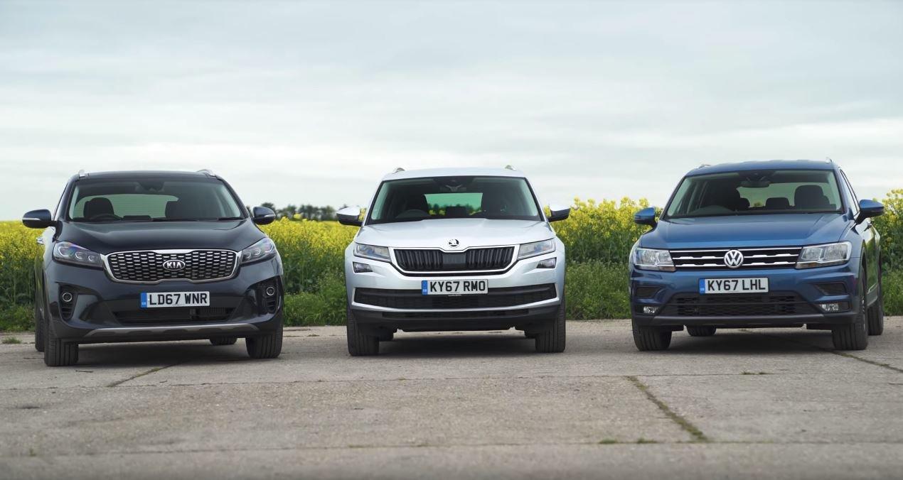 Škoda Kodiaq vs. Kia Sorento a Volkswagen Tiguan Allspace. Jaké ...