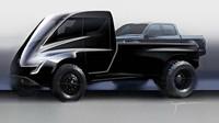 První nákres modelu Tesla Pickup vznikl úpravou tahače Semi