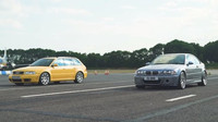 Závod BMW M3 e46 CSL vs. Audi RS4 B5 (Youtube/Carwow)