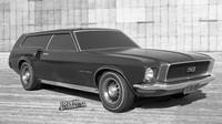 Designová studie Fordu Mustang Wagon (kombi) přímo od automobilky Ford