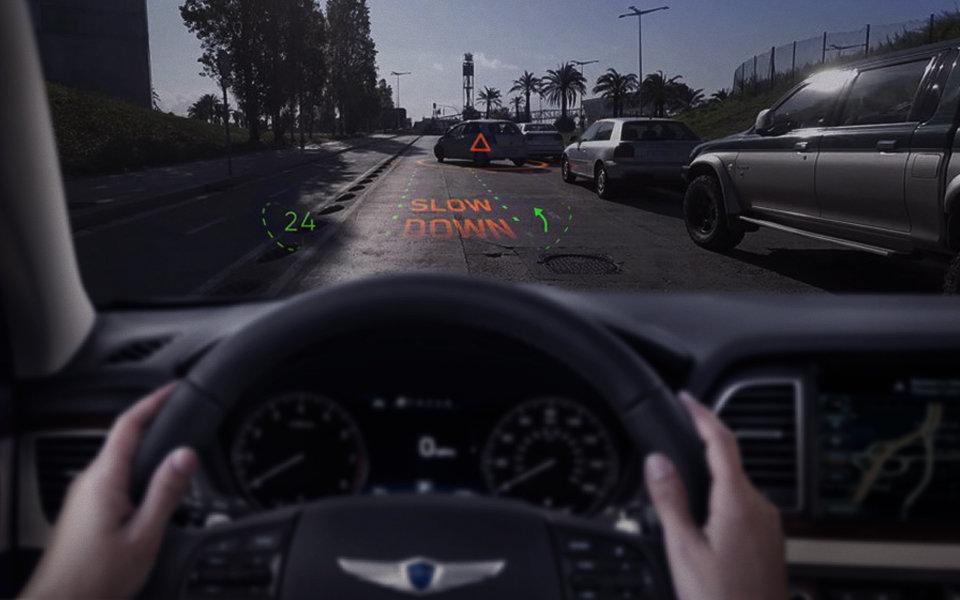 První ukázky čelního skla budoucnosti, na kterém spolupracuje Hyundai a WayRay