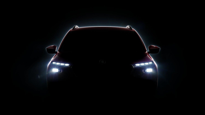 Škoda dnes zveřejnila první obrázek chysteného crossoveru, který doplní modely Kodiaq a Karoq