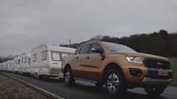 Ford Ranger s nejsilnějším naftovým čtyřválcem si dokázal poradit i s 15 karavany o váze cca 20 tun
