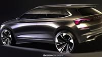 První skici nového městského SUV Škoda Kamiq