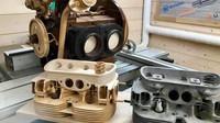 Umělec vytváří dokonalou repliku motoru Volkswagen ze dřeva (Facebook/Wood Art Finland)