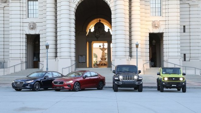 Záběry z testovacích jízd World Car Awards v Los Angeles