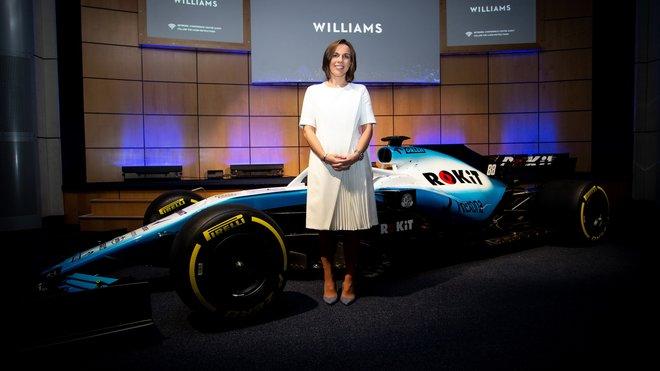Claire Williamsová s novým vozem FW42